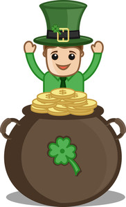 St. Patrick's Day In Office - Cartoon Business Characters