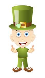 St. Patrick's Day Leprechaun Character