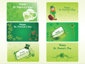 St. Patrick's Day Pattern Mini Cards 17 March