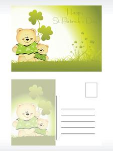 St. Patrick's Day Postal Card