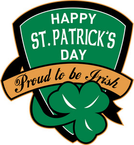 St. Patrick's Day Shield Irish