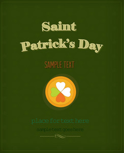 St. Patrick's Day Vector Illustration With Coins