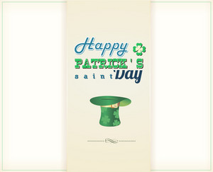 St. Patrick's Day Vector Illustration With Green Hat