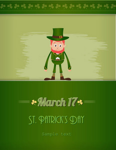 St. Patrick's Day Vector Illustration With Leprechaun