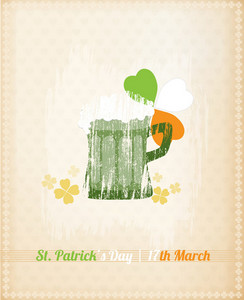 St. Patrick's Day Vector Illustration With Mug Of Beer