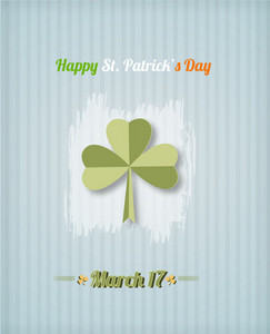 St. Patrick's Day Vector Illustration With Sticker Clover