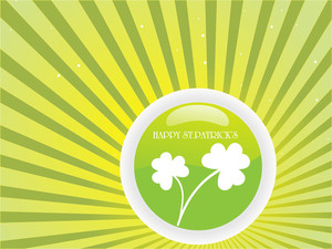 St. Pattrick's Rays Background Art 17 March