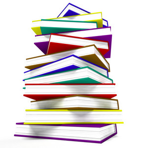 Stack Of Books Representing Learning And Education