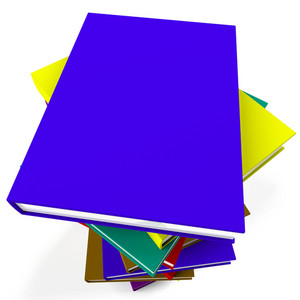 Stack Of Books Representing School Learning And Education