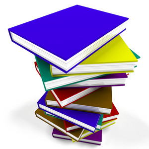 Stack Of Books Representing University Learning And Education