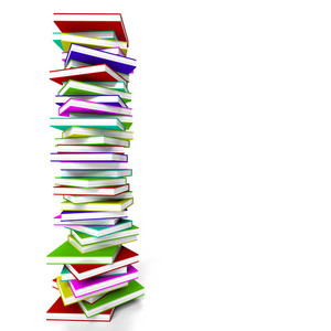 Stack Of Books With Copyspace Representing Learning And Education