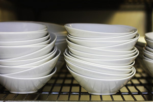 Stacked Bowls In Kitchen