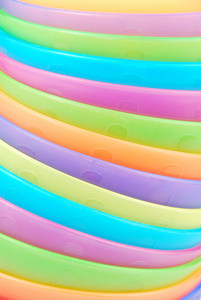 Stacked Colorful Bowls Background