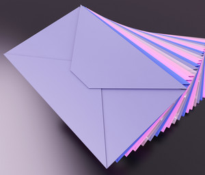 Stacked Envelopes Shows E-mail Message Inbox Mailbox
