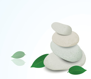 Stacked Spa Stones. Vector.