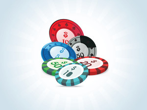Stacks Of Poker Chips In Different Currency