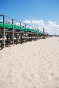 Stadium Green Bleachers (space On Sand)
