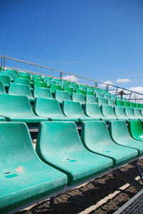 Stadium Green Bleachers