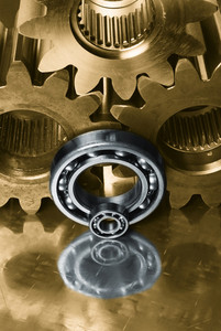 staineless steel cogs and bearings