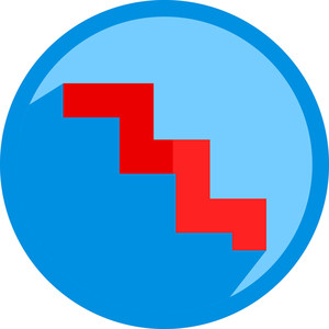 Stairs Shape Icon