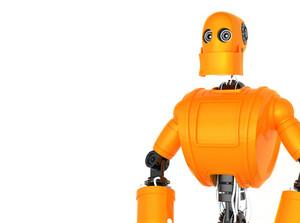 Standing Orange Robot