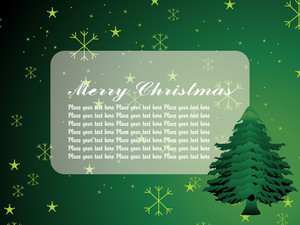 Star Backdrop With Christmas Tree Illustration