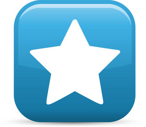 Star Favorite Elements Glossy Icon
