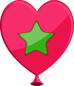 Star Heart Balloon