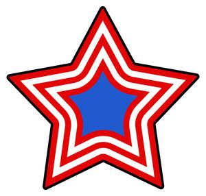 Star Patriotic Usa Theme Vector
