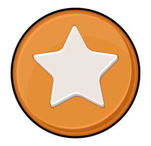 Star Shape Retro Coin