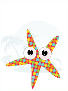 Starfish With Tropical Background