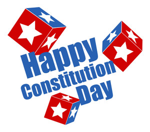 Stars Background  Constitution Day Vector Illustration