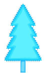 Stars Christmas Tree Frame Design