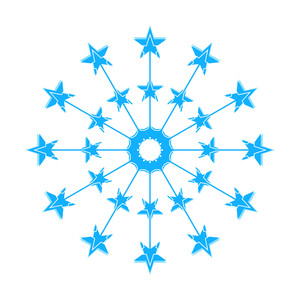 Stars Decorative Snowflake