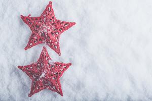 Stars in snow