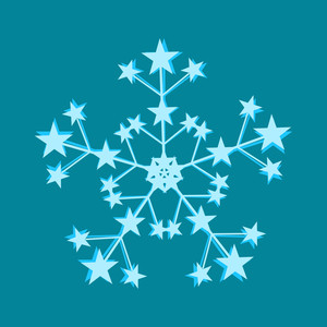 Stars Snowflake Vector Design