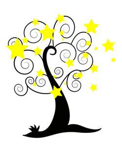 Stars Spiral Tree