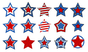 Stars Vectors For 4th Of July Vector Illustration