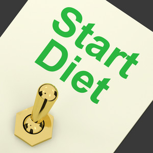Start Diet Switch Shows Dieting Or Slimming Beginning