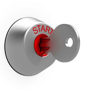 Start Key Shows Car Ignition