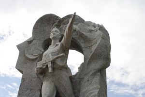 Statue of a Soldier on sky