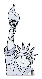 Statue Of Liberty Cartoon Vector
