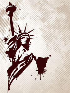 Statue Of Liberty. Vector Illistration.