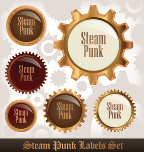 Steampunk Labels Set
