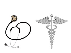 Stethoscope And Caduceus