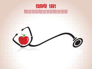 Stethoscope With Fresh Apple