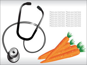 Stethoscope With Orange Carrot