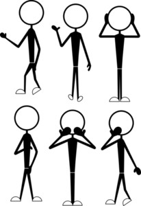 Stick Figure Cartoons Poses