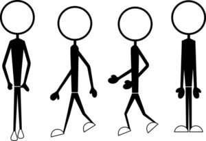 Stick Figure Characters Positions