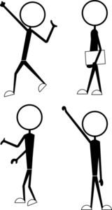 Stick Figure Charactres Gestures